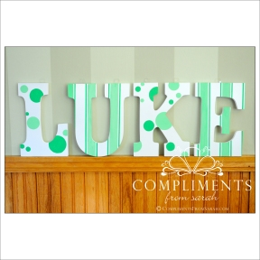 hand painted letters luke